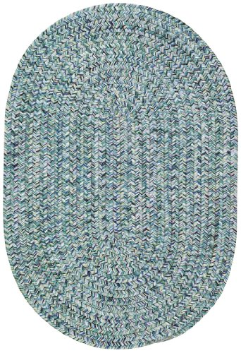 Capel Rugs Sea Pottery Oval Braided Area Rug, 7' x 9', - Braided All Weather Rug
