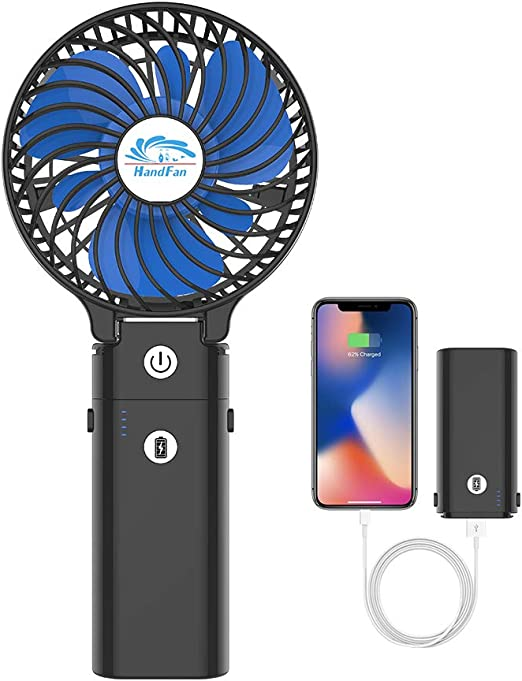 Color : White Mini Portable Cooling Fan USB Fan Mini Handheld Fan Desktop Mobile Phone Bracket Charging Fan