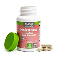 HairAnew Hair Skin and Nails Vitamins for Women & Men - Trusted Hair Supplement - Vegan - 11 Hair Vitamins & Ingredients for Growth in Confidence & Appearance - 5000mcg Biotin - 60 Capsules (1)