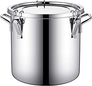 Airtight Canisters Stainless Steel Milk Bucket, Food Storage Bins Canisters Airtight Container (Size : 30L)