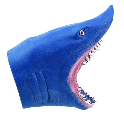 Plástico Tiburón Guantes Dedo Simulación Marionetas De Del Mano k8n0wPO