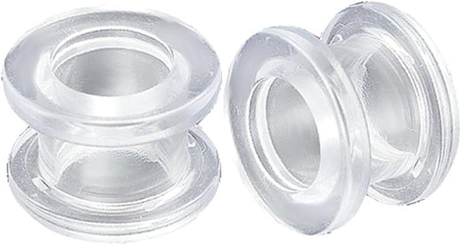 00g 00 gauge Pair WHITE ACRYLIC PLUGS tunnels ear