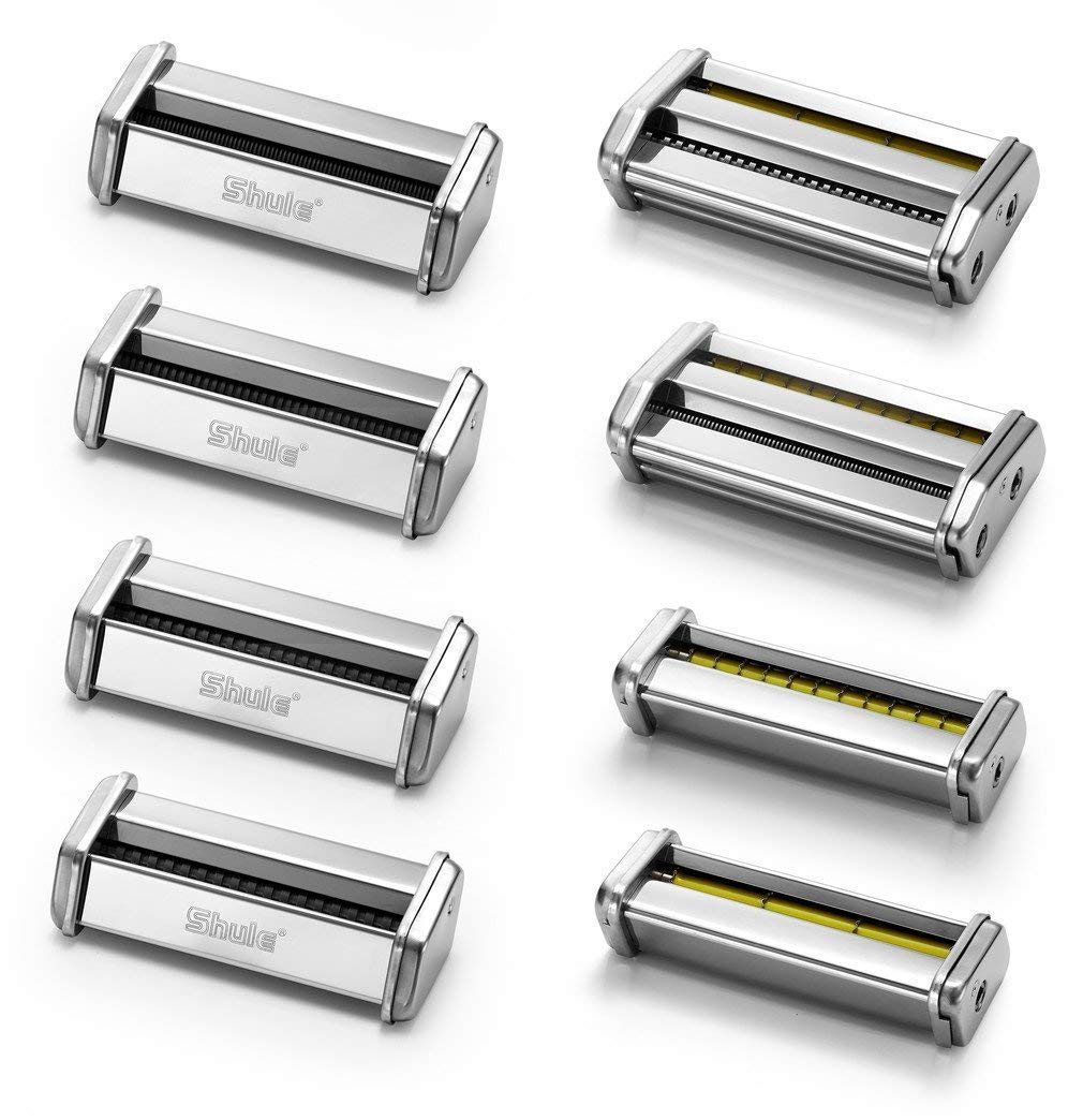 8 PCS Shule Pasta Roller Cutter Attachment For Making Spaghetti Capellini Taglierini Ravioli Linguinev Stand Mixers