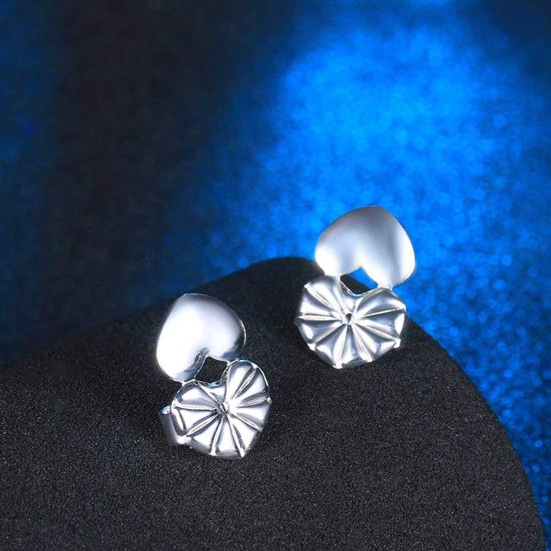 Formulaone Delicate Earring Backs Support Magic Earring Lifts Hipoalergé nico Push Earring Back Ear Clip Heart Shape Design