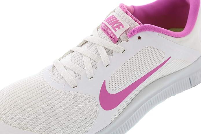 new concept d2e63 a6561 Amazon.com   Nike Free 4.0 V3 580406-160 Women White   Fashion Sneakers