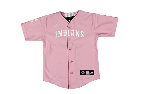 new style 5dc44 7762d adidas MLB Cleveland Indians Pink Toddler Jersey by: Amazon ...
