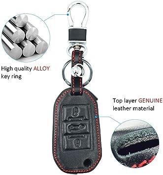 Amazon.com: Funda de piel con 3 botones para llave de ...