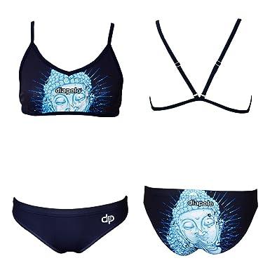... Acheter Pas Cher Confortable Sortie Diapolo - Maillot une pièce - Femme  Bleu bleu 77ad8db5234