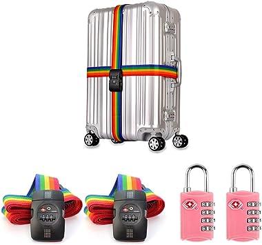 Correas de Equipaje de Viaje TSA para Maletas,BAFFECT® Correa de ...