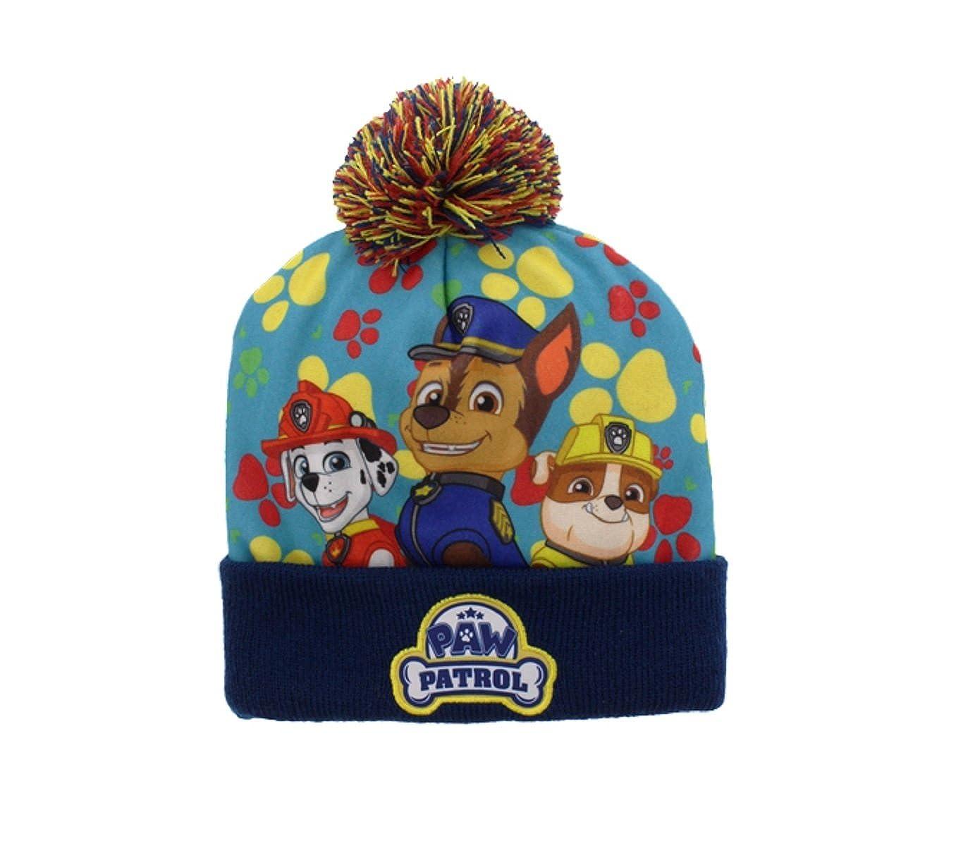 PAW Patrol Boys Pom Pom Hat Size 4-6X (Blue) Gertx