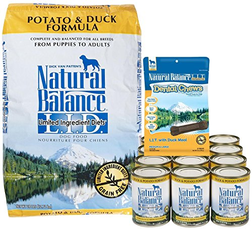 Natural Balance LID Duck & Potato + Dental Chews Bundle
