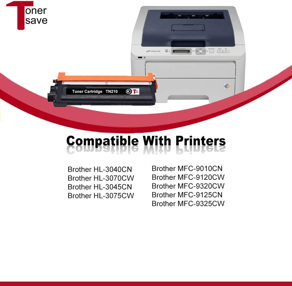 TonerSave 4PK TN210 TN-210 Toner for Brother HL-3045CN MFC-9325CW ...