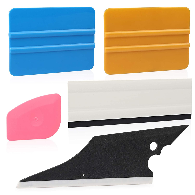 Ehdis® 5 pcs Installation Tool Kit for Automobile Car Vinyl Film Wrap Trim Window Tint Works, Car Squeegee Set Kit