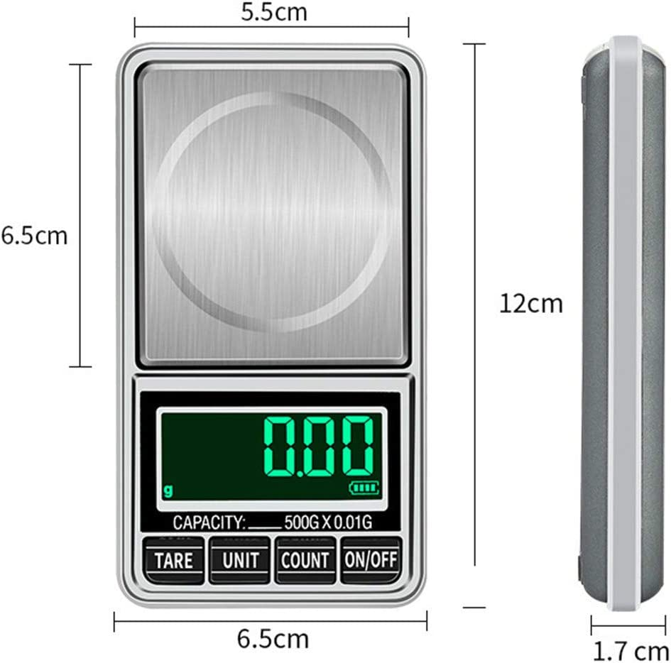 500g//0.01g MomentDAY Portable Black Mini Digital Scale Weighing Scale Digital Measuring Gram Accurate,Jewelry Pocket Balance Weight Scale