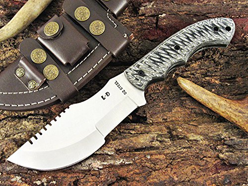 Huge Sale by Leather-n-Dagger | One-of-a-Kind Custom Handmade D2 Steel Tracker Hunting Knife LD503D-7