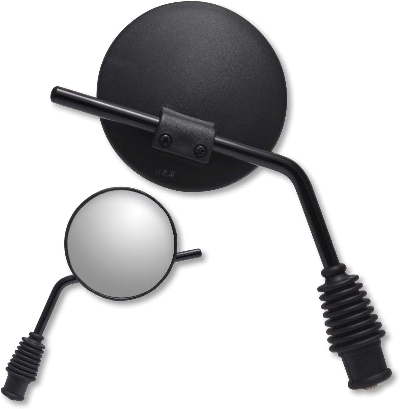 10mm Yamaha Reverse Thread Left /& Right Ken Sean 970510-970511 Black Mirror Set