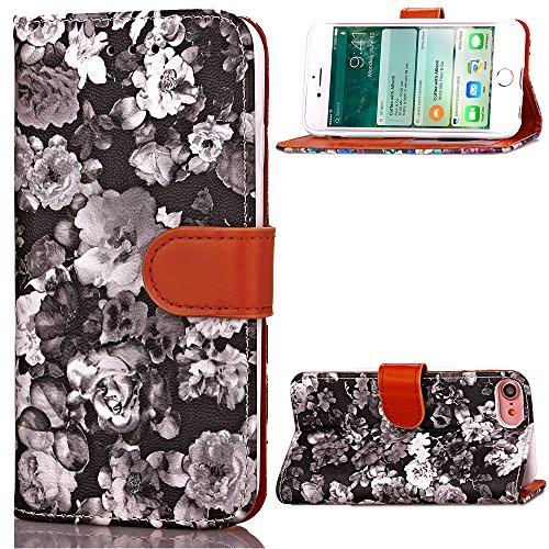 Funda Libro para iPhone 8,Manyip Suave PU Leather Cuero Con Flip Cover, Cierre Magnético, Función de Soporte,Billetera Case con Tapa para Tarjetas, Funda iPhone 8 C