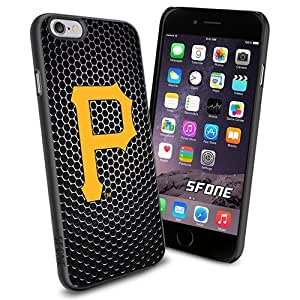 MLB, Pittsburgh Pirates Baseball Black Net iPhone 6 Smartphone Case Cover Collector iPhone TPU Rubber Case Black