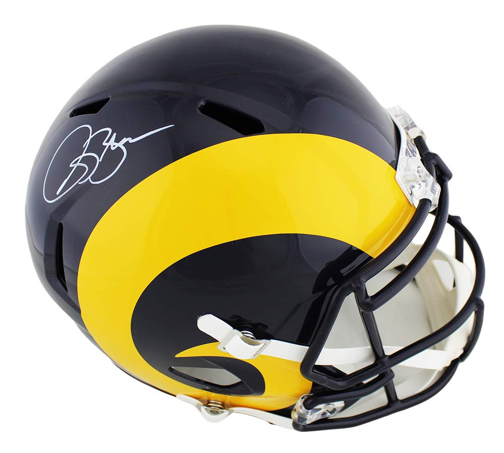 87b6e217 Amazon.com: Isaac Bruce Autographed/Signed Los Angeles Rams Riddell ...