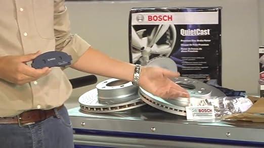 Bosch BP332 QuietCast Premium Semi-Metallic Disc Brake Pad Set For Mazda 2003-2005 6 2003 Protege 1984-1995 RX-7; Rear