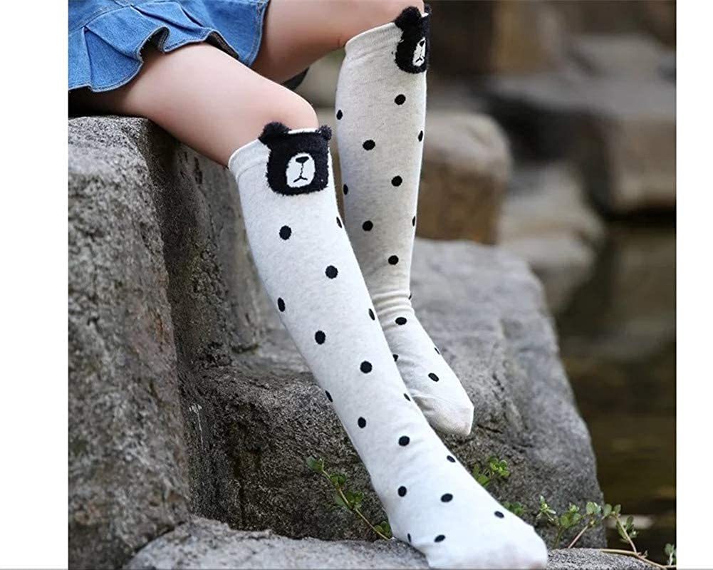 for 3-12 Years Old Kids Cartoon Animal Panda Cat Fox Bear Cotton Stockings Girls Cute Over Calf Knee High Socks