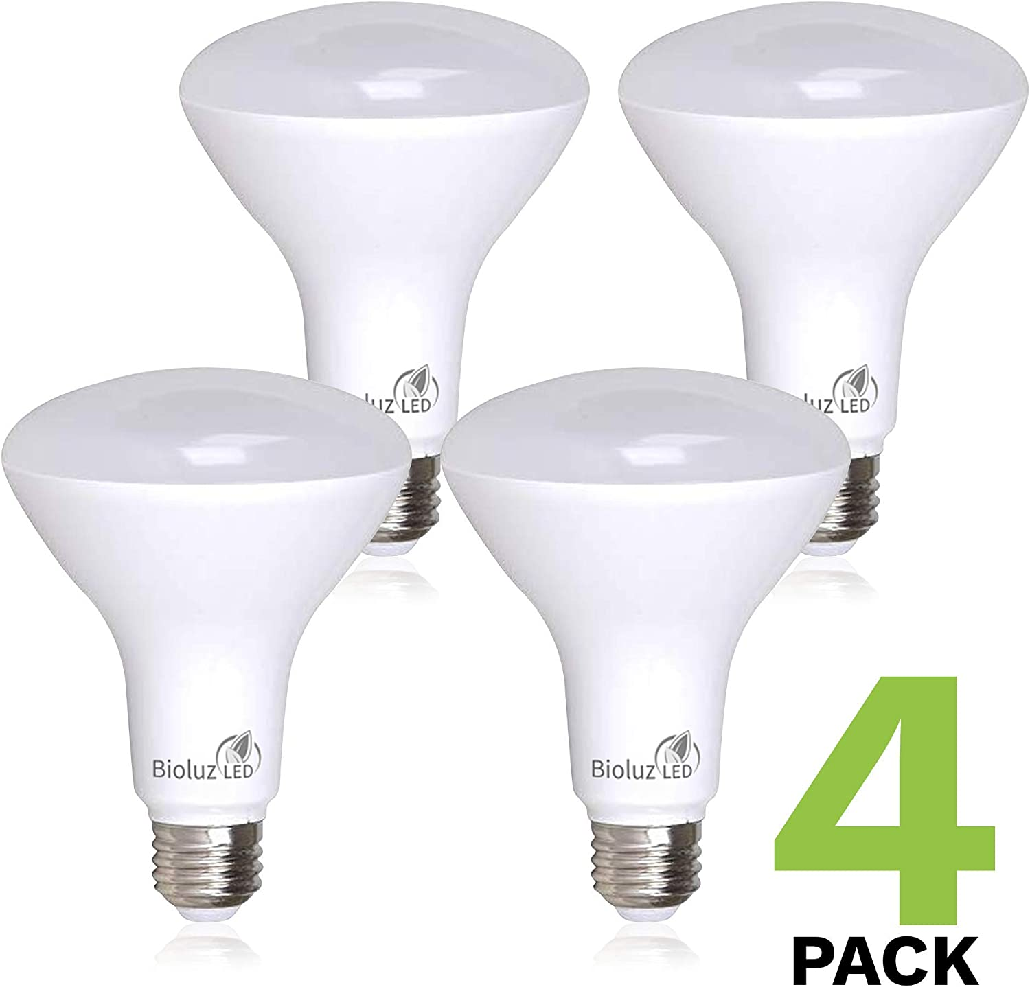 50w Replacement 2700k Flood Light Dimmable LOT 4 Bioluz LED Br20 Smooth 7w