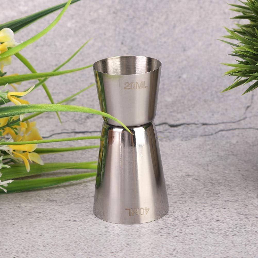 Tasse /à Mesurer Double Cocktail Jigger pour Bar Outil /à Vin en Acier Inoxydable 304 Jigger S