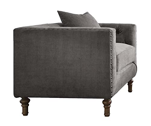 ACME Sidonia Gray Velvet Chair
