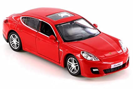 RMZ City Porsche Panamera Turbo, Red 555002 - Diecast Model Toy Car but NO BOX