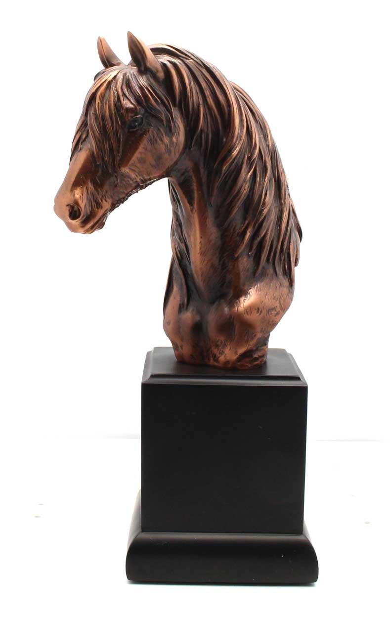L7 Enterprises Horse Bronze Bust Figurine | Statue | Sculpture with A Flowing Mane by L7 Enterprises