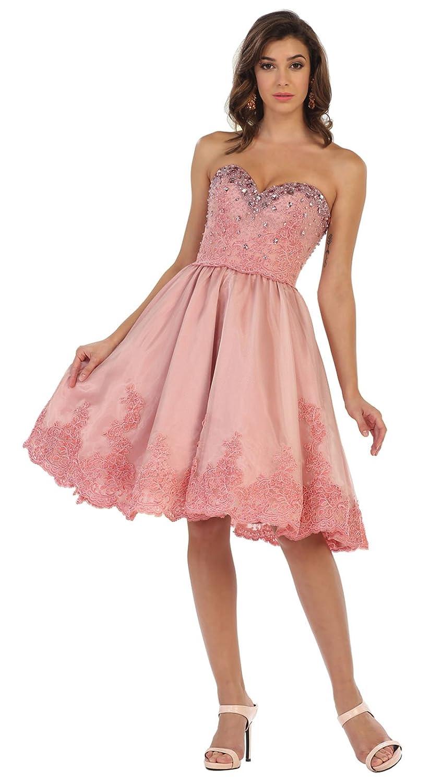 Royal Queen RQ7476 Elegant Short Prom Dress at Amazon Womens Clothing store: