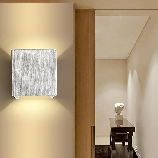 Agptek Applique Murale Intérieur Led Moderne Lampe Carrée 3W Lèche