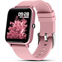 """Fullmosa Smart Watch for Android iOS,Fitness Tracker with Female Health Monitor,Activity Tracker with 1.4"""" Full-Touch…"""