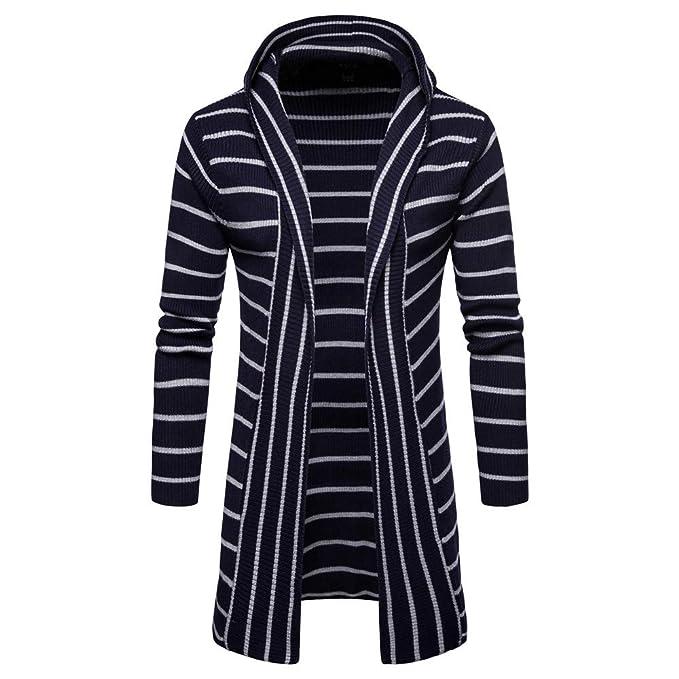Sannysis Chaqueta De Punto De Hombres, Largo Camisas Vestir CáRdigan Abrigos SuéTer con Capucha SóLido Trench Coat Jacket Cardigan: Amazon.es: Ropa y ...