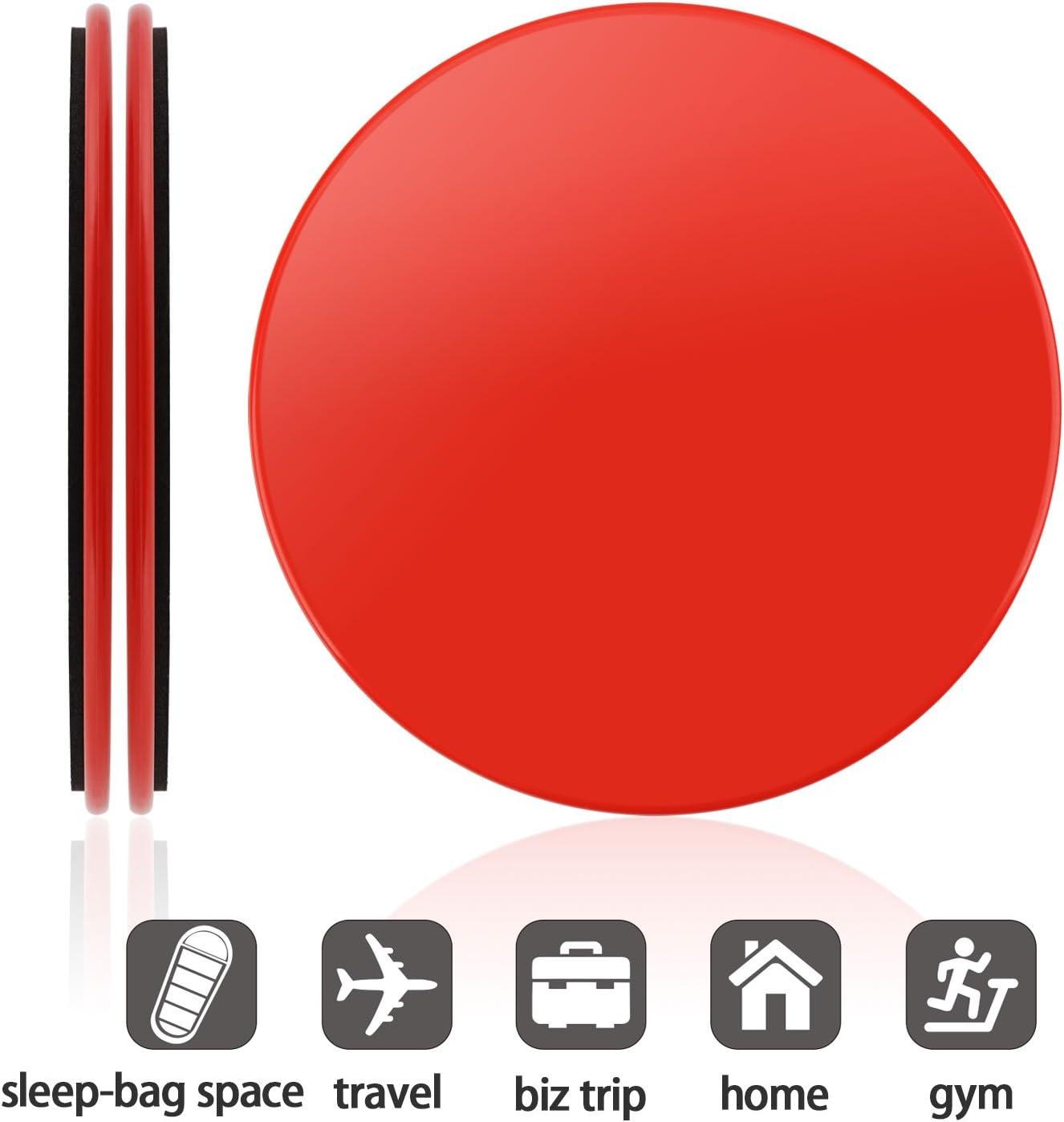 Discos Delta n/úcleo con Bolsa de Transporte INMAKER Sliders Ejercicio de Fitness Manual y de Libros electr/ónicos Dual Diapositivas Fuerza Sided