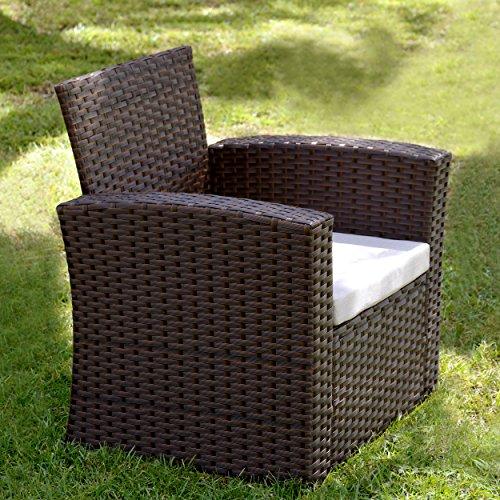 Innovex OD871RAB Prima Outdoor Single Sofa Patio Furniture, Large, Auburn Review