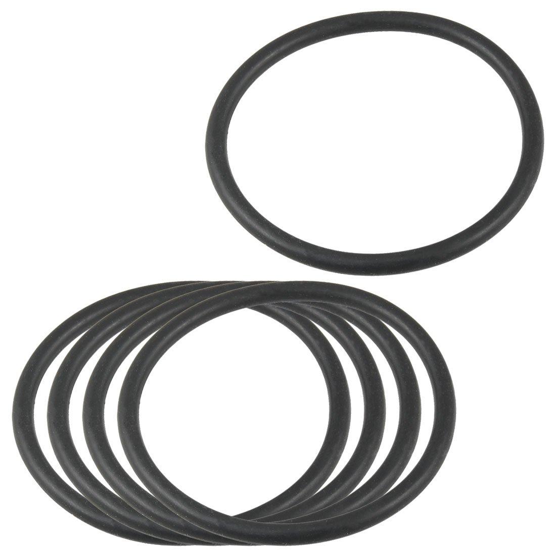 5 piezas 54 mm x 47 mm x 3, 5 mm arandela de goma Flexible O junta tó rica del negro 5 mm arandela de goma Flexible O junta tórica del negro Sourcingmap a12092600ux0050