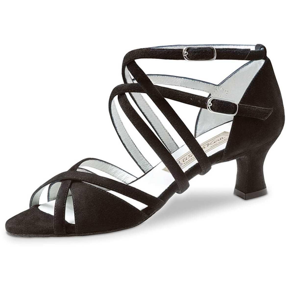 Werner Kern Femmes Chaussures de Danse Eva - Suéde Noir - 5,5 cm