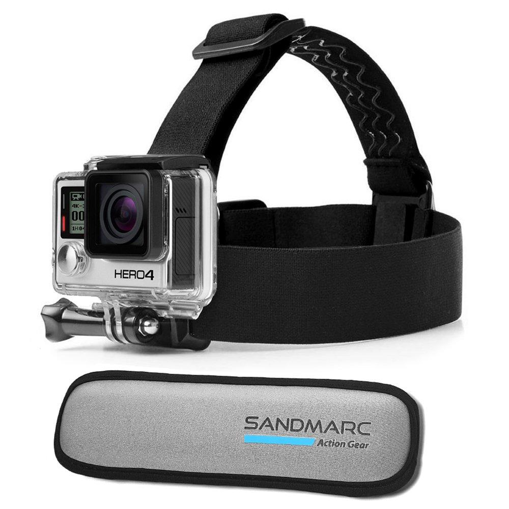 SANDMARC Floating Headstrap Mount for GoPro Hero 6, Hero 5, Hero 4, 3+, 3 and HD cameras. Keeps your GoPro afloat when surfing, kiteboarding, jet skiing, wakeboarding & more