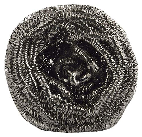 Estropajo de acero inoxidable (gris, paquete de 12)