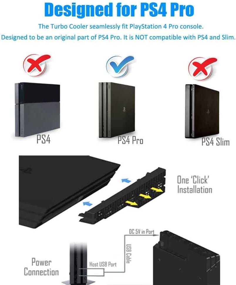 PS4 Pro ventilador de refrigeración - Turbo refrigerador Control ...