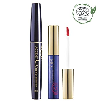 MCC C Curve Voluminzing Mascara + ECOCERT Organic Studio Tint Lip Rouge Set (501)