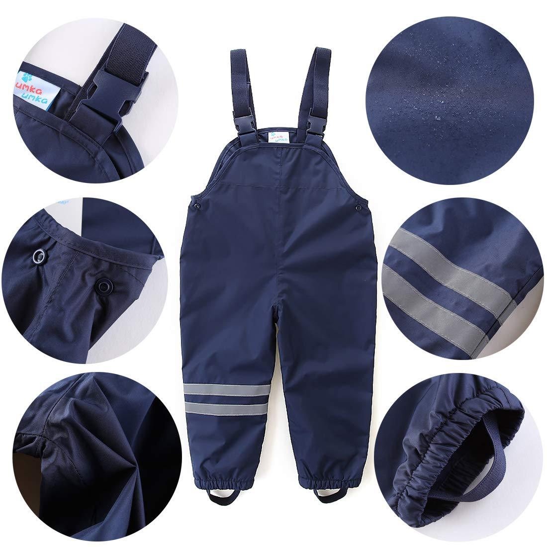 umkaumka Completo Impermeabile con Giacca e Pantaloni e Cappuccio per Bambini
