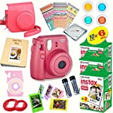 #9: Fujifilm Instax Mini 8 (Raspberry) Deluxe kit bundle Includes: - Instant camera with Instax mini 8 instant films (60 pack) - A MASSIVE DELUXE BUNDLE