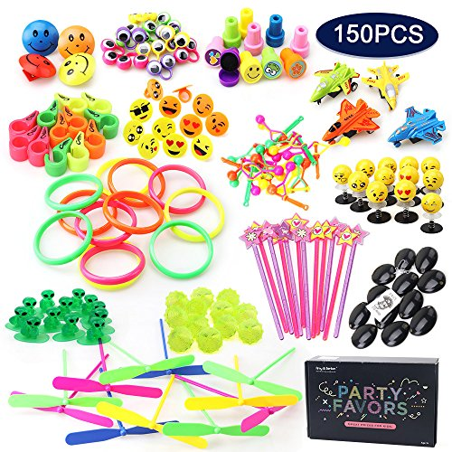 Amy & Benton Party Favor Toys for Kids Birthday 150 PCS Pinata Filler Toys Carnival Prizes for Boys and Girls Treasure Box / Chest Treat for Classroom (Boys Treasure Chest)
