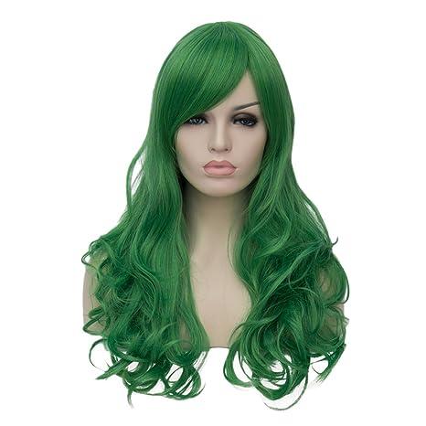 """AMYHOME 24""""60CM Peluca de cabello largo ondulado para mujer disfraz fiesta cosplay wig peluca"""