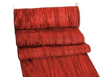 Unbekannt 10m Fripe Taft 200mm Tischband Rot Bordeaux Hellgrun Grun