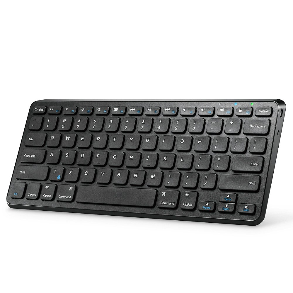 Anker Ultra Compact Slim Profile Wireless Bluetooth Keyboard with Rechargeable Battery, Universal Compatibility with iPad and Computer - Black