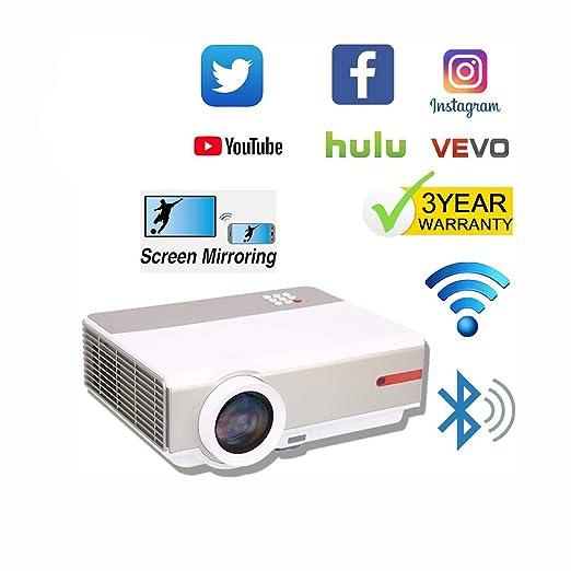 Proyector Full HD WiFi Resolución nativa 1080P 4K Máx.Proyector ...