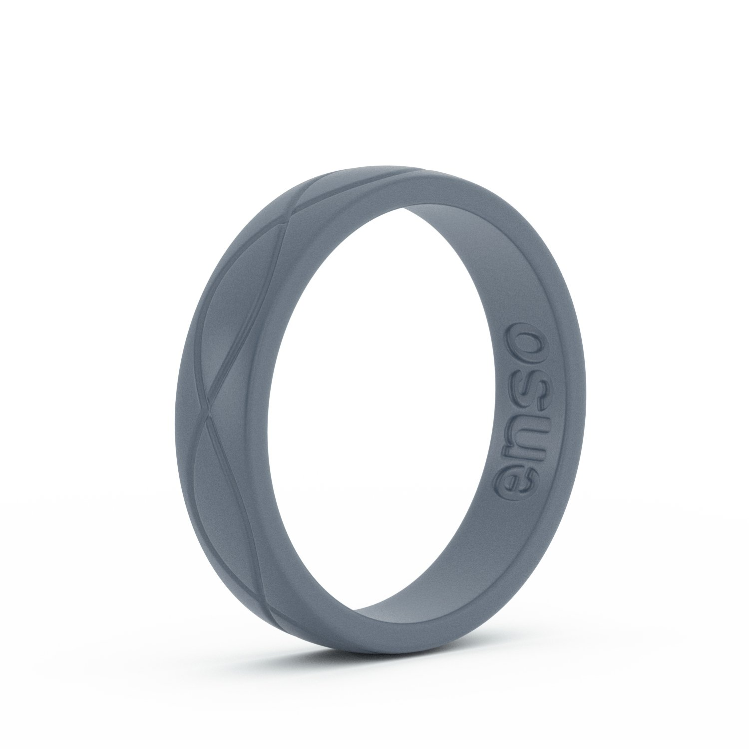 Enso Womens Infinity Silicone Ring, Slate Blue 5